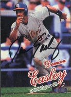 Damion Easley Detroit Tigers 1998 Fleer Ultra Autographed Card. This item comes with a certificate of authenticity from Autograph-Sports. PSM-Powers Sports Memorabilia