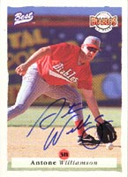 Antone Williamson El Paso Diablos - Brewers Affiliate 1995 Classic Best Autographed Card - Minor League Card. This item comes with a certificate of authenticity from Autograph-Sports. PSM-Powers Sports Memorabilia