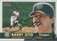Barry Zito Oakland Athletics 2001 Fleer Tradition Autographed Card - Nice Card. This item comes with a certificate of authenticity from Autograph-Sports. PSM-Powers Sports Memorabilia