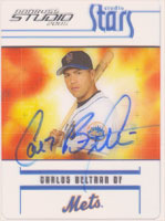Carlos Beltran New York Mets 2005 Donruss Studio Stars Autographed Card - Sweet Card. This item comes with a certificate of authenticity from Autograph-Sports. PSM-Powers Sports Memorabilia