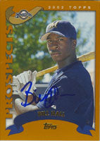 Billy Hall Milwaukee Brewers 2002 Topps Prospects Autographed Card. This item comes with a certificate of authenticity from Autograph-Sports. PSM-Powers Sports Memorabilia
