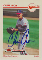 Chris Cron Edmonton Trappers - Angels Affiliate 1991 Line Drive Pre Rookie Autographed Card - Minor League Card. This item comes with a certificate of authenticity from Autograph-Sports. PSM-Powers Sports Memorabilia