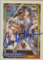 Dave Gallagher California Angels 1992 Topps Autographed Card. This item comes with a certificate of authenticity from Autograph-Sports. PSM-Powers Sports Memorabilia