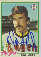 Dave LaRoche California Angels 1978 Topps Autographed Card - Rare Card. This item comes with a certificate of authenticity from Autograph-Sports. PSM-Powers Sports Memorabilia