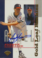 Andrew Lorraine California Angels 1995 Leaf Gold Autographed Card - Rookie Card. This item comes with a certificate of authenticity from Autograph-Sports. PSM-Powers Sports Memorabilia