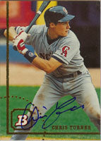 Chris Turner California Angels 1994 Bowman Autographed Card. This item comes with a certificate of authenticity from Autograph-Sports. PSM-Powers Sports Memorabilia