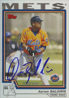 Aarom Baldiris New York Mets 2004 Topps   Autographed Card. This item comes with a certificate of authenticity from Autograph-Sports. PSM-Powers Sports Memorabilia