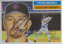 Craig Brazell New York Mets 2005 Topps Heritage Autographed Card. This item comes with a certificate of authenticity from Autograph-Sports. PSM-Powers Sports Memorabilia