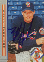 Brett Herbison Binghamton Mets - Mets Affiliate 1999 Blueline Autographed Card - Minor League Card. This item comes with a certificate of authenticity from Autograph-Sports. PSM-Powers Sports Memorabilia