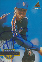 Bobby Jones New York Mets 1994 Pinnacle Autographed Card. This item comes with a certificate of authenticity from Autograph-Sports. PSM-Powers Sports Memorabilia