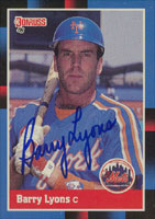 Barry Lyons New York Mets 1988 Donruss Autographed Card. This item comes with a certificate of authenticity from Autograph-Sports. PSM-Powers Sports Memorabilia