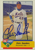 Chris Saunders Binghamton Mets - Mets Affiliate 1994 Fleer Pro Cards Autographed Card - Minor League Card. This item comes with a certificate of authenticity from Autograph-Sports. PSM-Powers Sports Memorabilia