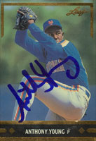 Anthony Young New York Mets 1991 Leaf   Autographed Card. This item comes with a certificate of authenticity from Autograph-Sports. PSM-Powers Sports Memorabilia