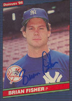 Brian Fisher New York Yankees 1986 Donruss Autographed Card. This item comes with a certificate of authenticity from Autograph-Sports. PSM-Powers Sports Memorabilia