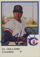 Al Holland Columbus Clippers - Yankees Affiliate 1986 ProCards Autographed Card - Minor League Card. This item comes with a certificate of authenticity from Autograph-Sports. PSM-Powers Sports Memorabilia