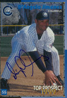D'Angelo Jimenez Columbus Clippers - Yankees Affiliate 1999 International League Autographed Card - Minor League Card. This item comes with a certificate of authenticity from Autograph-Sports. PSM-Powers Sports Memorabilia