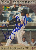 Donzell, McDonald Norwich Navigators - Yankees Affiliate 1998 Multi-Ad Sports Autographed Card - Minor League Card. This item comes with a certificate of authenticity from Autograph-Sports. PSM-Powers Sports Memorabilia