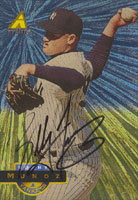 Bobby Munoz New York Yankees 1994 Pinnacle Autographed Card. This item comes with a certificate of authenticity from Autograph-Sports. PSM-Powers Sports Memorabilia