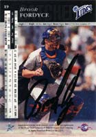 Brook Fordyce Norfolk Tides - Mets Affiliate 1993 Upper Deck SP Top Prospects Autographed Card - Minor League Card - signed on back. This item comes with a certificate of authenticity from Autograph-Sports. PSM-Powers Sports Memorabilia
