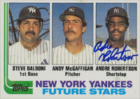 Andre Robertson New York Yankees 1983 Topps Autographed Card. This item comes with a certificate of authenticity from Autograph-Sports. PSM-Powers Sports Memorabilia