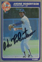 Andre Robertson New York Yankees 1985 Fleer Autographed Card. This item comes with a certificate of authenticity from Autograph-Sports. PSM-Powers Sports Memorabilia
