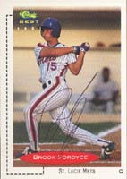 Brook Fordyce St. Lucie Mets - Mets Affiliate 1991 Classic Best Autographed Card - Minor League Card. This item comes with a certificate of authenticity from Autograph-Sports. PSM-Powers Sports Memorabilia