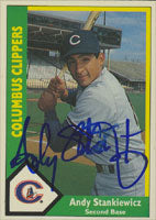 Andy Stankiewicz Columbus Clippers - Yankees Affiliate 1990 CMC Autographed Card - Minor League Card. This item comes with a certificate of authenticity from Autograph-Sports. PSM-Powers Sports Memorabilia