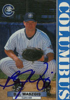 B.J. Waszgis Columbus Clippers - Yankees Affiliate 1999 Blueline Autographed Card - Minor League Card. This item comes with a certificate of authenticity from Autograph-Sports. PSM-Powers Sports Memorabilia