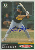 Matt Allegra Oakland Athletics 2002 Topps Total Autographed Card. This item comes with a certificate of authenticity from Autograph-Sports. PSM-Powers Sports Memorabilia