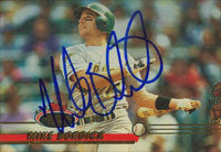 Mike Bordick Oakland Athletics 1993 Topps Stadium Club Autographed Card. This item comes with a certificate of authenticity from Autograph-Sports. PSM-Powers Sports Memorabilia