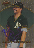 Bobby Chouninard Oakland Athletics 1996 Bowman's Best Autographed Card. This item comes with a certificate of authenticity from Autograph-Sports. PSM-Powers Sports Memorabilia