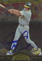 Steve Cox Oakland Athletics 1995 Upper Deck SP Top Prospects Autographed Card. This item comes with a certificate of authenticity from Autograph-Sports. PSM-Powers Sports Memorabilia