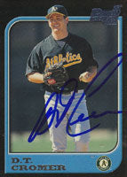 D.T. Cromer Oakland Athletics 1997 Bowman 1st Card Autographed Card. This item comes with a certificate of authenticity from Autograph-Sports. PSM-Powers Sports Memorabilia