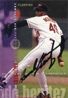 Armando Benitez Baltimore Orioles 1995 Fleer Autographed Card. This item comes with a certificate of authenticity from Autograph-Sports. PSM-Powers Sports Memorabilia