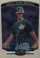 A.J. Hinch Modesto A's - Athletics Affiliate 1997 Upper Deck SP Top Prospects Autographed Card - Minor League Card. This item comes with a certificate of authenticity from Autograph-Sports. PSM-Powers Sports Memorabilia