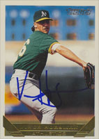 Vince Horsman Oakland Athletics 1993 Topps Gold Autographed Card. This item comes with a certificate of authenticity from Autograph-Sports. PSM-Powers Sports Memorabilia