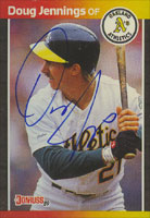 Doug Jennings Oakland Athletics 1989 Donruss Autographed Card. This item comes with a certificate of authenticity from Autograph-Sports. PSM-Powers Sports Memorabilia
