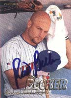Rich Becker Minnesota Twins 1997 Fleer Autographed Card. This item comes with a certificate of authenticity from Autograph-Sports. PSM-Powers Sports Memorabilia