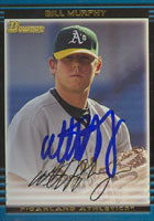 Bill Murphy Oakland Athletics 2002 Bowman Autographed Card. This item comes with a certificate of authenticity from Autograph-Sports. PSM-Powers Sports Memorabilia
