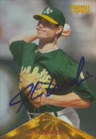 John Wasdin Oakland Athletics 1996 Pinnacle Autographed Card. This item comes with a certificate of authenticity from Autograph-Sports. PSM-Powers Sports Memorabilia