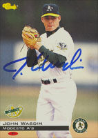 John Wasdin Modesto A's - Athletics Affiliate 1994 Classic Autographed Card - Minor League Card. This item comes with a certificate of authenticity from Autograph-Sports. PSM-Powers Sports Memorabilia