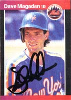 Dave Magadan New York Mets 1989 Donruss Autographed Card. This item comes with a certificate of authenticity from Autograph-Sports. PSM-Powers Sports Memorabilia