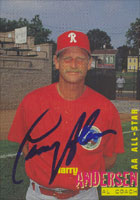 Larry Anderson Reading Phillies - Phillies Affiliate 1996 Best Cards Autographed Card - Minor League Card. This item comes with a certificate of authenticity from Autograph-Sports. PSM-Powers Sports Memorabilia