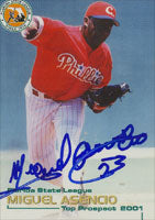 Miguel Asencio Clearwater Phillies - Phillies Affiliate 2001 Grandstand Autographed Card - Minor League Card. This item comes with a certificate of authenticity from Autograph-Sports. PSM-Powers Sports Memorabilia