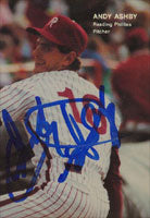 Andy Ashby Reading Phillies - Phillies Affiliate 1990 Best Cards Autographed Card - Minor League Card. This item comes with a certificate of authenticity from Autograph-Sports. PSM-Powers Sports Memorabilia