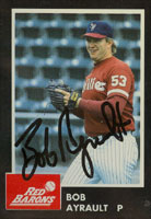 Bob Ayrault Scranton/W-B Red Barons - Phillies Affiliate 1992 Planters Autographed Card - Minor League Card. This item comes with a certificate of authenticity from Autograph-Sports. PSM-Powers Sports Memorabilia