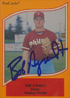 Bob Ayrault Reading Phillies - Phillies Affiliate 1990 ProCards Autographed Card - Minor League Card. This item comes with a certificate of authenticity from Autograph-Sports. PSM-Powers Sports Memorabilia