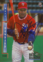 Marc Bombard Scranton/W-B Red Barons - Phillies Affiliate 2000 Blueline Autographed Card - Minor League Card. This item comes with a certificate of authenticity from Autograph-Sports. PSM-Powers Sports Memorabilia