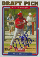Michael Bourn Philadelphia Phillies 2005 Topps Draft Pick Autographed Card. This item comes with a certificate of authenticity from Autograph-Sports. PSM-Powers Sports Memorabilia