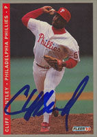 Cliff Brantley Philadelphia Phillies 1993 Fleer Autographed Card. This item comes with a certificate of authenticity from Autograph-Sports. PSM-Powers Sports Memorabilia